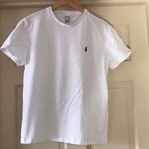 Men's MED white Ralph Lauren crew neck t-shirt